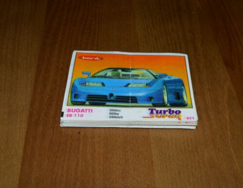 FULL set 70 pcs.471-540 KENT TURBO Super Chewing GUM Wrappers Inserts very Rare
