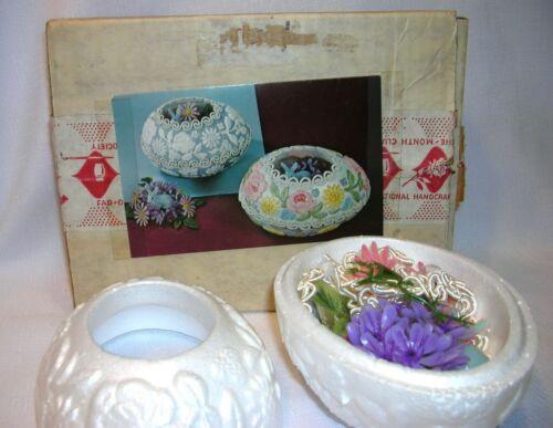 Vintage National Handcraft Elegant Spring Garden Easter Egg Styrofoam Kit Unused