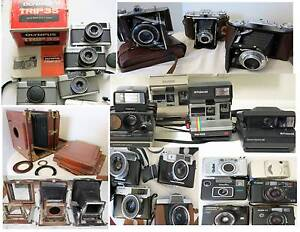 Rare Film ,Rangefinders , Folding Polaroids ,SLRs Cameras South Yarra Stonnington Area Preview