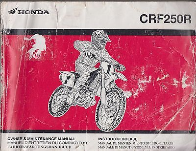 HONDA CRF250R OFFROAD MOTORCYCLE ORIGINAL 2004 FACTORY REPAIR MANUAL