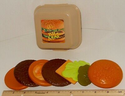 COMPLETE RARE ~ HTF Fisher Price McDonald's Fun  Food Big Mac Cheese & Container