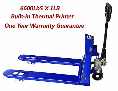Saga Pallet Jack Scale 6600lb X 1lb With Printer Pallet Truck Scale Pallet Scale