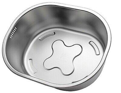 Incroma Stainless Steel Dishpan Basin Dish Washing Bowl Bucket Basket Tub