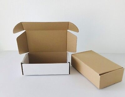Small White Die-Cut Postal  boxes   Pack of 40    approx  6