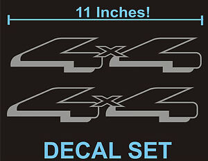 4x4 truck bed decals silver set for ford f 150 and super duty. Black Bedroom Furniture Sets. Home Design Ideas