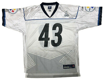 PITTSBURGH STEELERS TROY POLAMALU #43 REEBOK SUPER BOWL XLV MENS JERSEY szXL