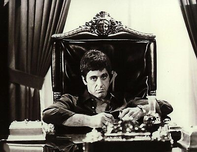 Scarface Al Pacino Canvas Office Chair Giclee Print Unframed Home Decor Wall Art