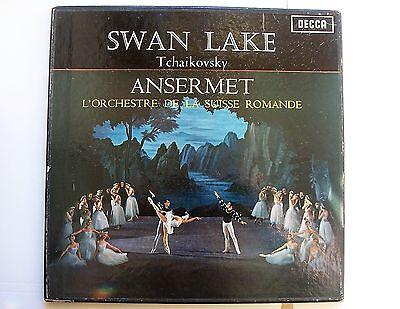 """TCHAIKOVSKY-SWAN LAKE"" ansermet UK DECCA STEREO SXL 2107-8 BOX SET WB 2nd ed"