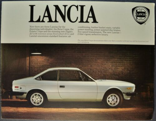 1979 Lancia Brochure Beta Coupe Zagato HPE Estate Wagon Excellent Original 79