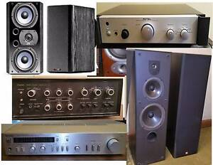 ROTEL, Wharfeda, Speakers, Bose ,Sansui ,Amplifiers, Sub South Yarra Stonnington Area Preview