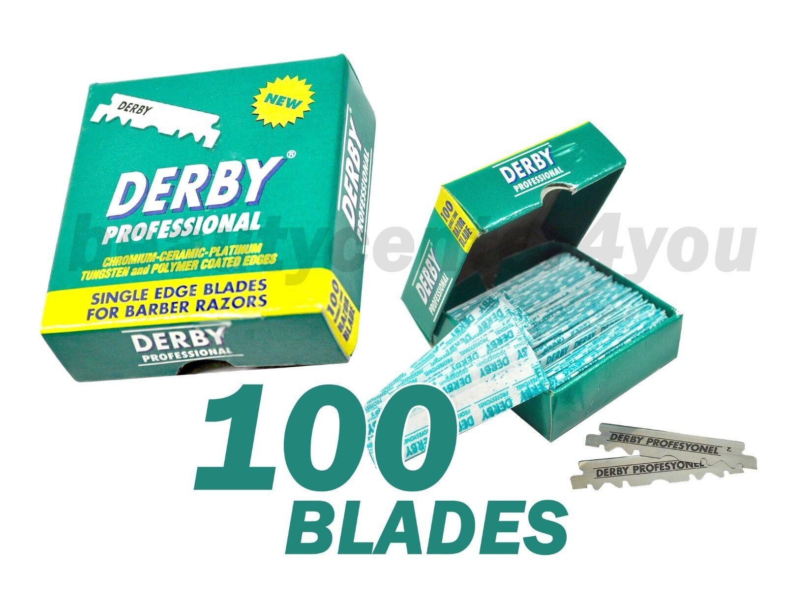 Classic Samurai CS-102 Stainless Straight Edge Barber Razor +100 Derby Blades