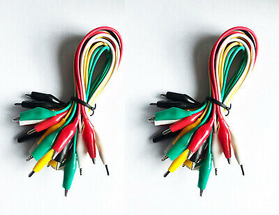 20 Pcs. 5 Colors Test Lead Alligator Clip Set Ac-10 With 20.5 In. Length Wires