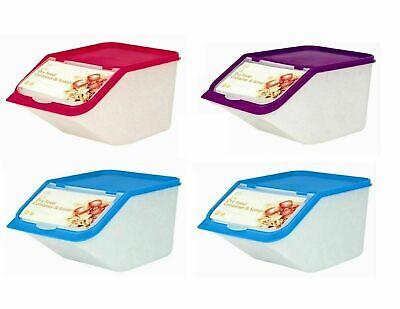 4x 3.5L  Pet Food Dry Feed Container Animal Dog Cat Storage Box Bin & Scoop Slim