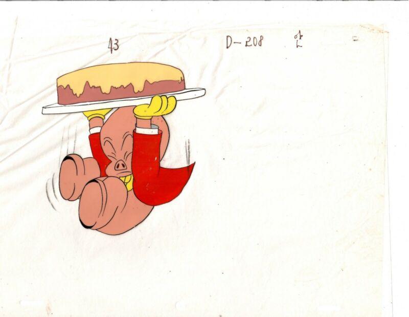 PORKY PIG PRODUCTION ANIMATION CEL WARNER BROTHERS.  1960circa