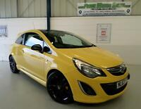 VAUXHALL CORSA 1.2i (85ps) LIMITED EDITION 3DR,YELLOW FLAME,LOW INS GRP 7