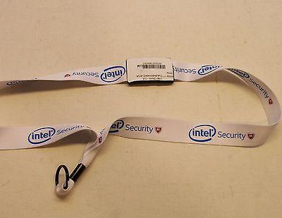 Intel Logo Woven Nylon Intel Security Lanyard by Intel - NEW  (WHITE)