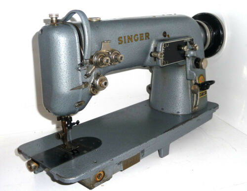 Antique industrial Singer 307G2 zig zag heavy duty sewing machine denim leather