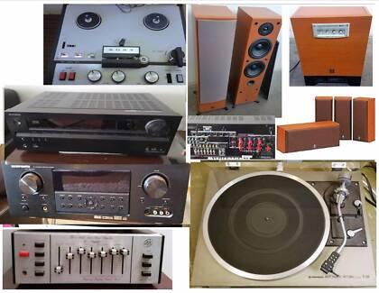 Rotel,Bose,NAD,Marantz Speakers,Amps, Subwoofer,Turntable