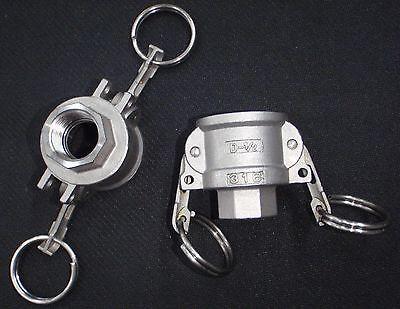 Stainless Steel Cam Lock Adapter 12 Female - 12 Npt Female Nipple Cl13-050