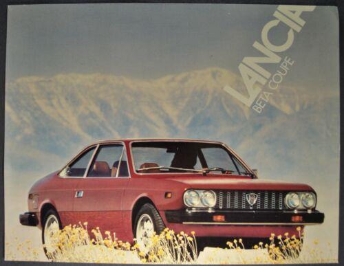 1976 Lancia Beta Coupe Sales Brochure Sheet Excellent Original 76