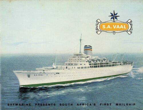 Safmarine S.A. VAAL Intro Brochure from 1966 - ex-TRANSVALE CASTLE - Excellent