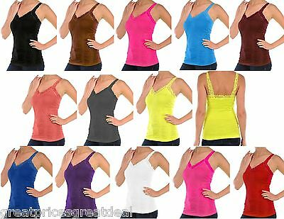 Womens Tanktop Mopas Wrinkled Camisole Lace Straps One Size Twc306 Fits S M L Xl