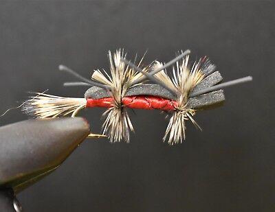1 dozen BWO Blue Wing Olive Parachute #18 Fly Trout Fishing Flies Para NIB