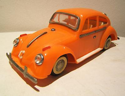 VW Käfer, 20 cm, sehr seltenes Modell, Kunststoff, orange, Made in China, 1960er