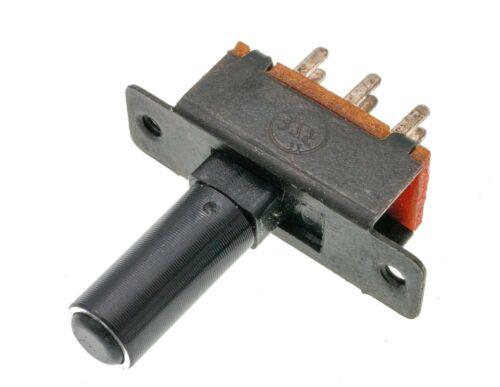 5pcs DPDT Panel Mount 6-pin 2 Positions Slide Switch, Round Baton Actuator, PCB