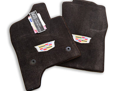 NEW 2015-2020 Cadillac Escalade Floor Mats - Cocoa Brown w/ Crest - InStock