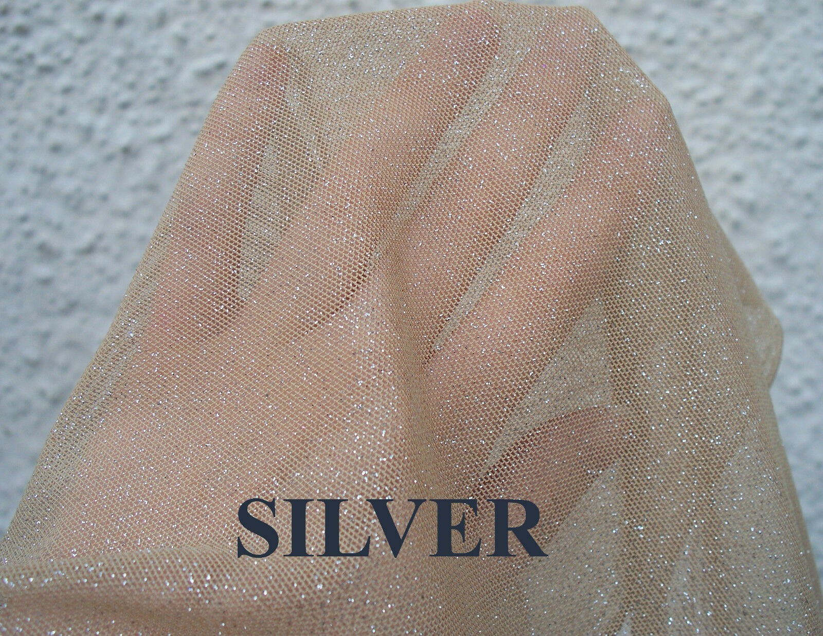 80 Wide Four Way Stretch Sheer Drapey Mesh Beige Skin