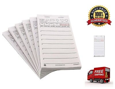 Lined White Tablet - 10 Pack White Server Lightweight Compact Pad Paper 1 Part Booked with 8 Lines