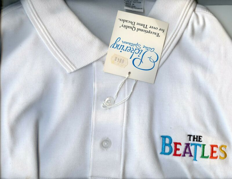 Beatles Vintage Logo Embroidered Collar Shirt, Extra Large, Never Used