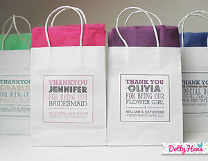 PERSONALISED WEDDING GIFT BAGS - PAPER PARTY FAVOURS WITH TISSUE