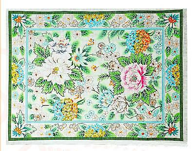 Rug - Floral Garden with Peony Blossoms Handpainted by Lee Needle Art ~ 10 Mesh ()