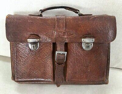 1930s Handbags and Purses Fashion Antique Vintage Leather Briefcase 1930s - 50s Prop Display  $50.30 AT vintagedancer.com