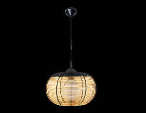 pendelleuchte 1x60w e 27 draht lampenschirm schwarz gold h ngelampe lampe led ebay. Black Bedroom Furniture Sets. Home Design Ideas