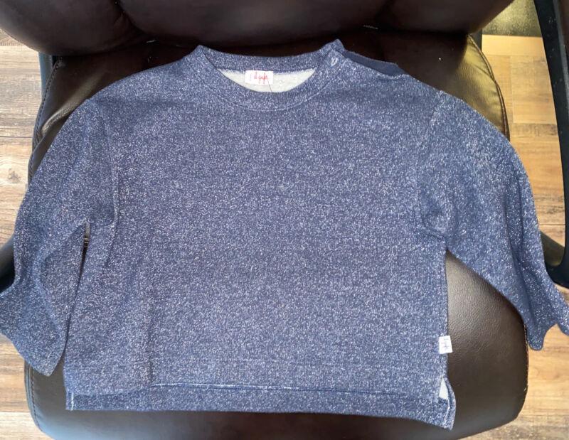 Il Gufo Girls Cotton Sweater Blue Sparkly