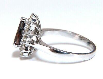 GIA Certified 1.47ct Natural Fancy Orange Brown Diamond Halo Ring  14 Karat 5