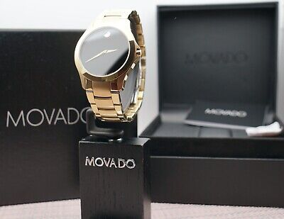 Swiss Movado Masino 18K Gold Plated Stainless Steel Model # 0607034 Men's Watch