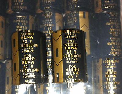 2pcs New Japan Elna Lao 10000uf 63v For Audio Electrolytic Capacitor 3550mm Eu5