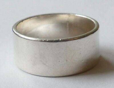 Bandring Ring 925 Silber schlicht zeitlos Vintage 70er ring silver