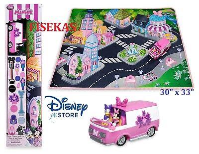 Disney Store Minnie Mouse Daisy Playmat Van Vehicle Play Mat Road Set Cars NEW Disney Cars Play Mat
