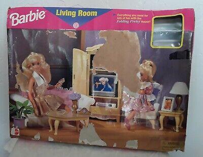 Barbie Living Room For Folding Pretty House Set NEW 1996 Mattel 67553 Arco Toys