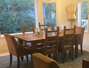 Harvest Table and Fours Chairs