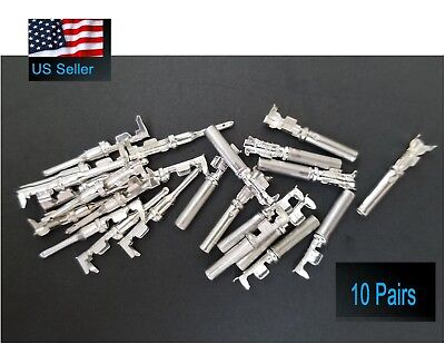 10 Pairs Deutsch Dt Series Pin Connector Male Female 20 Pcs Terminals Metal