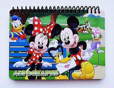 Disney Gang - Mickey Minnie Donald Daisy Goofy Pluto Autograph Book 25106