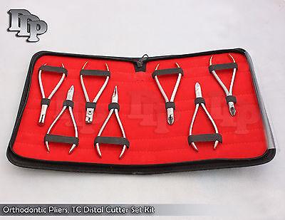 7 Assorted Orthodontic Pliers Tc Distal Cutter Set Kit Orthodontic Instru Dn-570