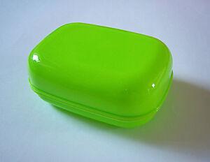 Soap Box Dish Plate Holder Case Green TRAVEL, BATHROOM, CAMPING, TREKING