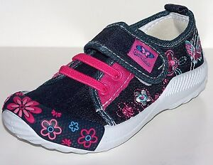 Lovely girls canvas flower butterfly shoes  size 8.5 9 10 11 12 New